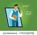 learning provided through an... | Shutterstock .eps vector #1701536938
