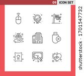 Pack Of 9 Modern Outlines Signs ...