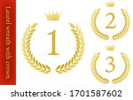 laurel wreath and crown ranking ... | Shutterstock .eps vector #1701587602