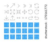 thin arrow icon set vector