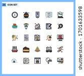 set of 25 commercial filled... | Shutterstock .eps vector #1701633598
