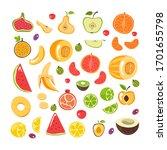 slice cut fruit simple...   Shutterstock .eps vector #1701655798