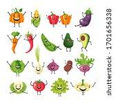 vegetables character simple... | Shutterstock .eps vector #1701656338