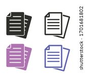document file paper page message | Shutterstock .eps vector #1701681802