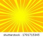 yellow pop art background retro ... | Shutterstock .eps vector #1701715345