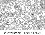 Big Coloring Page With Cute...