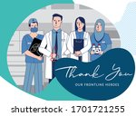 a thank you message for the... | Shutterstock .eps vector #1701721255