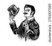 elegant proud man of the...   Shutterstock .eps vector #1701837085