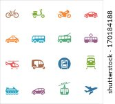 transportation icons   colored... | Shutterstock .eps vector #170184188