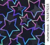 neon star geometric seamless...   Shutterstock .eps vector #1701875215