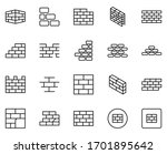 Wall Icon Set. Collection Of...