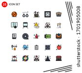 25 creative icons modern signs... | Shutterstock .eps vector #1701905008