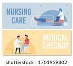 nursing care  medical checkup... | Shutterstock .eps vector #1701959302
