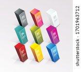 set of bright 3d pyramids... | Shutterstock .eps vector #1701963712