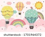 Three Colorful Hot Air Balloon  ...