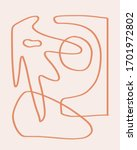 abstract minimal art organic... | Shutterstock . vector #1701972802