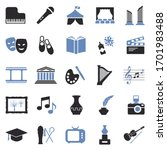 culture icons. two tone flat... | Shutterstock .eps vector #1701983488