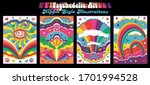 hippie style illustrations... | Shutterstock .eps vector #1701994528