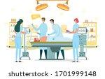 surgeon perform operation ...   Shutterstock .eps vector #1701999148