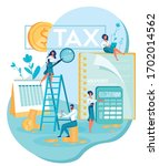 tax audit. professional four... | Shutterstock .eps vector #1702014562