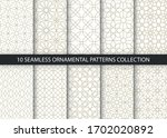 collection of 10 oriental... | Shutterstock .eps vector #1702020892