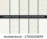 collection of 10 oriental... | Shutterstock .eps vector #1702020895