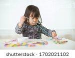 Toddler Girl String Wooden Bea...