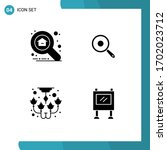 4 solid glyph concept for... | Shutterstock .eps vector #1702023712