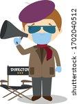 cute cartoon vector... | Shutterstock .eps vector #1702040512