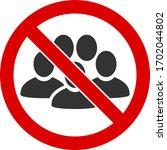 vector stop people crowd flat... | Shutterstock .eps vector #1702044802
