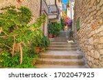 mediterranean summer cityscape  ... | Shutterstock . vector #1702047925