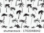 modern hand drawn tropical palm ... | Shutterstock .eps vector #1702048042