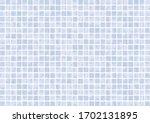 light blue tiles background...   Shutterstock . vector #1702131895