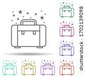 bag briefcase multi color icon. ...