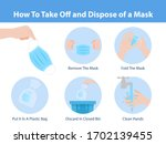 how to take off and dispose of... | Shutterstock .eps vector #1702139455