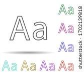 abc letter a multi color icon....