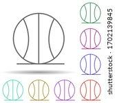 basketball multi color icon....