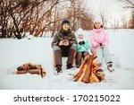 family happy outdoors. | Shutterstock . vector #170215022
