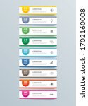 9 data infographics tab paper... | Shutterstock .eps vector #1702160008