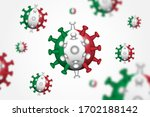 covid 19 . 3d floating corona... | Shutterstock .eps vector #1702188142