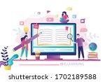 e learning banner. online... | Shutterstock .eps vector #1702189588