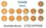 editable 14 tower icons for web ...   Shutterstock .eps vector #1702195948