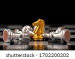 chess. strategy ideas planning... | Shutterstock . vector #1702200202