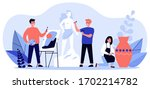 people from artists community... | Shutterstock .eps vector #1702214782