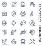 insurance line icons set. life  ... | Shutterstock .eps vector #1702214788