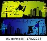 skaters vector composition | Shutterstock .eps vector #17022235