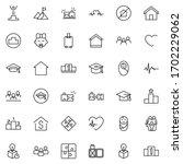 core values line icon set.... | Shutterstock .eps vector #1702229062