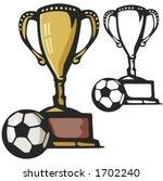 soccer gold cup. vector... | Shutterstock .eps vector #1702240