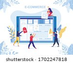 e commerce  marketing strategy  ... | Shutterstock .eps vector #1702247818