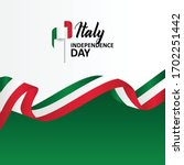italy independence day banner... | Shutterstock .eps vector #1702251442